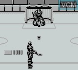In-game screen of the game Blades of Steel on Nintendo Game Boy