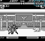 In-game screen of the game King of Fighters 98, The on Nintendo Game Boy
