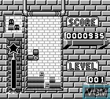 In-game screen of the game Pac-Attack on Nintendo Game Boy