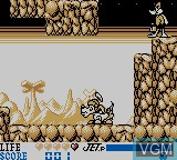 In-game screen of the game Daffy Duck - The Marvin Missions on Nintendo Game Boy
