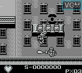 In-game screen of the game Darkwing Duck on Nintendo Game Boy
