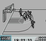 In-game screen of the game Double Dribble - 5 on 5 on Nintendo Game Boy