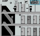 In-game screen of the game Elevator Action on Nintendo Game Boy