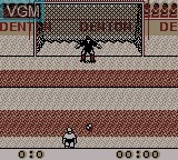 In-game screen of the game Elite Soccer on Nintendo Game Boy
