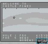 In-game screen of the game Jack Nicklaus Golf on Nintendo Game Boy