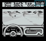 In-game screen of the game Jeep Jamboree on Nintendo Game Boy