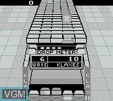 In-game screen of the game Klax on Nintendo Game Boy