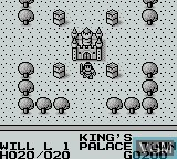 In-game screen of the game Knight Quest on Nintendo Game Boy