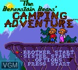 Title screen of the game Berenstain Bears', The - Camping Adventure on Sega Game Gear