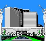 Title screen of the game Caesar's Palace on Sega Game Gear