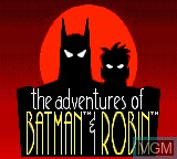 Title screen of the game Adventures of Batman & Robin, The on Sega Game Gear