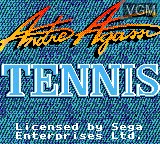 Title screen of the game Andre Agassi Tennis on Sega Game Gear