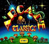 Title screen of the game Arcade Classics on Sega Game Gear