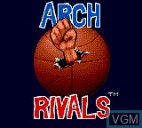 Title screen of the game Arch Rivals on Sega Game Gear