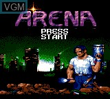 Title screen of the game Arena - Maze of Death on Sega Game Gear