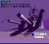 Title screen of the game Battleship on Sega Game Gear