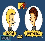 Title screen of the game Beavis and Butt-head on Sega Game Gear