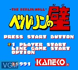 Title screen of the game Berlin no Kabe on Sega Game Gear