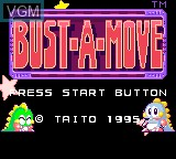 Title screen of the game Bust-A-Move on Sega Game Gear