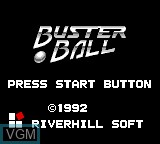 Title screen of the game Buster Ball on Sega Game Gear