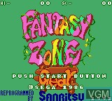 Title screen of the game Fantasy Zone Gear on Sega Game Gear