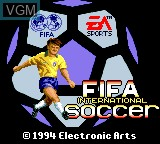 Title screen of the game FIFA International Soccer on Sega Game Gear