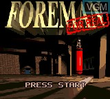 Title screen of the game Foreman for Real on Sega Game Gear