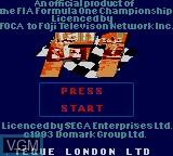 Title screen of the game F-1 on Sega Game Gear