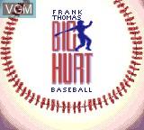 Title screen of the game Frank Thomas Big Hurt Baseball on Sega Game Gear