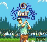 Title screen of the game Fred Couples Golf on Sega Game Gear