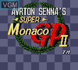 Title screen of the game Ayrton Senna's Super Monaco GP II on Sega Game Gear