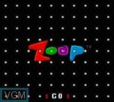 Title screen of the game Zoop on Sega Game Gear