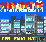 Title screen of the game Car Licence on Sega Game Gear