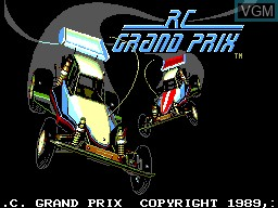 Title screen of the game R.C. Grand Prix on Sega Game Gear