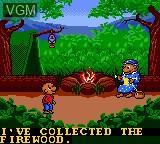 Menu screen of the game Berenstain Bears', The - Camping Adventure on Sega Game Gear