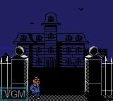 Menu screen of the game Addams Family, The on Sega Game Gear