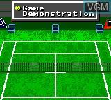 Menu screen of the game Andre Agassi Tennis on Sega Game Gear
