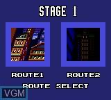 Menu screen of the game Batman Returns on Sega Game Gear