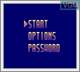 Menu screen of the game Beavis and Butt-head on Sega Game Gear