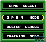 Menu screen of the game Buster Ball on Sega Game Gear