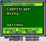 Menu screen of the game Faceball 2000 on Sega Game Gear