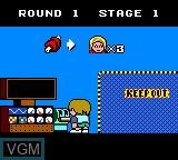 Menu screen of the game Factory Panic on Sega Game Gear