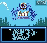 Menu screen of the game Fred Couples Golf on Sega Game Gear