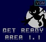 Menu screen of the game Zool on Sega Game Gear