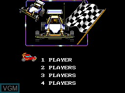 Menu screen of the game R.C. Grand Prix on Sega Game Gear