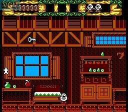 In-game screen of the game Fantastic Dizzy on Sega Game Gear