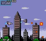 In-game screen of the game Aerial Assault on Sega Game Gear