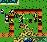 In-game screen of the game Crystal Warriors on Sega Game Gear