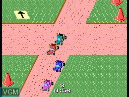 In-game screen of the game R.C. Grand Prix on Sega Game Gear