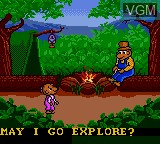 In-game screen of the game Berenstain Bears', The - Camping Adventure on Sega Game Gear